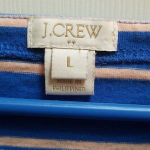 J. Crew Tops - J. Crew heavyweight striped tee blue large